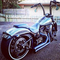 #Harley #harleydavidson #breakout #custom #likeaboss #apehangers #crazy #hot #love #swag #livetoride #biker