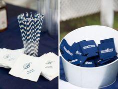 navy blue wedding details | photo by peachblossomphotography.com