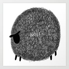 wolf sheep Art Print by ayamiichino - society6 - $18.00
