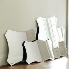 Chantell Frameless Mirror   Ballard Designs l embrace your reflection, it is always beautiful