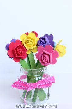 Popsicle Stick Flower Craft - FSPDT
