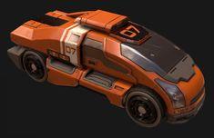 ArtStation - Sci-fi Transport, Aaron Deleon