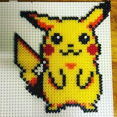 Pikachu hama beads by leynu
