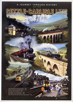 Settle Carlisle Line #Vintage #Rail #Railway #Train #Poster #Posters #Prints #Print #Art #UK #Britain #British #Old #Travel #Cumbria www.vintagerailposters.co.uk