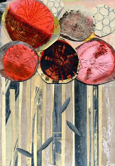 red flowers, sgraffito by andrea_daquino, via Flickr
