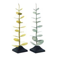 Metal Tree Sculpture (Set of 2)