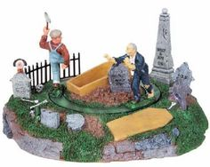 Lemax Spooky Town Grave Robber's Surprise Lighted Animated 84741 NIB B12