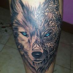 Reto... #hechoahierro #tattoolobo #tattooed #tatuajesenfotos #tattoopic #inkedlife #ink