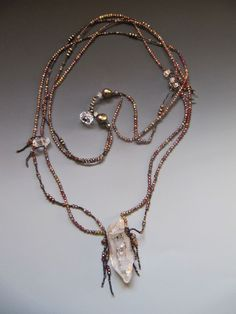 lucia antonelli, necklace, crystal and sapphire
