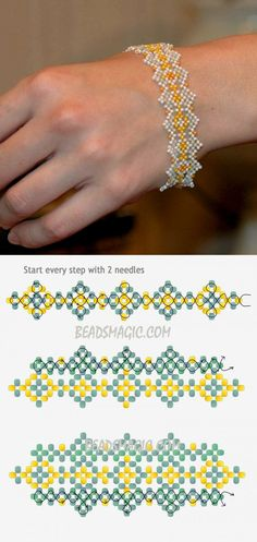 Free pattern for bracelet Teresa | Beads Magic
