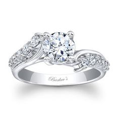 Barkev's Designer 14k White Gold Round-cut Diamond Engagement Ring (F-G, SI1-SI2) - Free Shipping Today - Overstock.com - 18478955 - Mobile