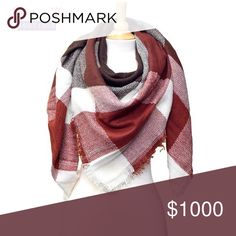 """💖Host Pick💖🌟Plaid Square Blanket Scarf Red🌟 💖Sunday Funday Host Pick 10/23/2016 by: @bryalynn 💖  Very soft and cozy Plaid square blanket scarf. Perfect addition to your fall & winter outfit! Dimension approximately 55""""x55"""".   Color: Red/Brown Fabric: Acrylic  💟Submit your offer thru the """"Offer"""" button 💟NO Price discussion in the comment 💟NO Lowballing 💟NO Trades Davin+Theia Accessories Scarves & Wraps"""
