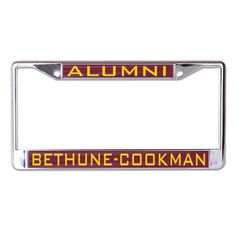 Bethune-Cookman University BCU License Plate Frame- Style One - Brothers and Sisters' Greek Store