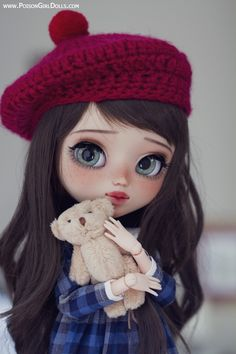 Welcome to Poison Girl's Dolls! Pullip & Blythe custom dolls for sale in my shop.Blythe dolls are cute 😍 on We Heart It Pretty Dolls, Beautiful Dolls, Ooak Dolls, Blythe Dolls, Girl Dolls, Barbie Dolls, Chibi, Cute Girl Wallpaper, Kawaii Wallpaper