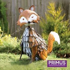 He's our Nodding Metal Fox garden ornament (or for indoors too!) He has a quirky design and finished in authentic colours. Fox Ornaments, Garden Ornaments, Bird Statues, Garden Statues, Garden Wind Spinners, Fallen Fruits, Rainbow Bubbles, Temple Gardens, White Crane