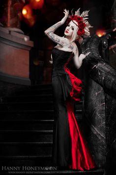 #Goth girl in a headdress