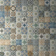 One of the most interesting and beautiful patchwork styles one the market, Nikea Patchwork Tiles offer a whopping 28 different designs, each with its own unique geometric pattern, floral pattern or curious style - great for creating those mismatched shabby-chic finishes!  (http://www.directtilewarehouse.com/nikea-pattern-tiles-multi-coloured-tiles/)