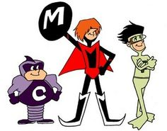 Note: In Japan, The Impossibles were called, Super Three. Cartoon Crazy, Cartoon Tv, Vintage Cartoon, Classic Cartoon Characters, Classic Cartoons, Desenhos Hanna Barbera, 70s Cartoons, Saturday Morning Cartoons, Old Tv Shows