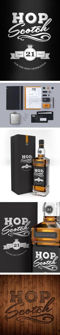 Hop Scotch branding by Mike Delsing, via Behance PD