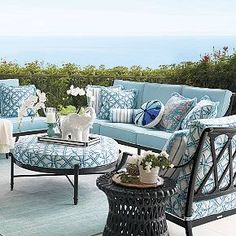 Transform your outdoor space into a stylish oasis with the array of patio furniture sets at Frontgate. Shop our outdoor furniture collections now. Patio Furniture Sets, Find Furniture, Furniture Styles, Garden Furniture, Lanai Design, Outdoor Living, Outdoor Decor, Outdoor Spaces, Exterior