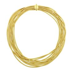Marco Bicego Cairo 18k Gold 9 Strand Woven Collar Necklace Featured in our upcoming auction on November 17!