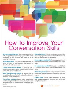 How to Improve Your Conversation Skills – 10 Valuable Tips I By Frank Sonnenberg I Live and Learn Kaizen, Effective Communication Skills, Communication Relationship, Assertive Communication, Communication Activities, Meaningful Conversations, Leadership Development, Emotional Development, Professional Development