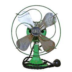 """The Fan Club: Kelly Green Perfex Fan 8"""", at 20% off! Industrial Desk, Vintage Industrial, Retro Fan, Desk Fan, Electric Fan, Vintage Hawaii, Kelly Green, Decorative Accessories, House Design"""