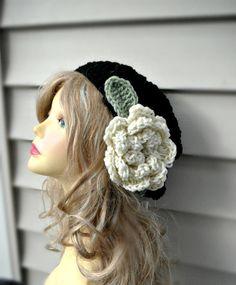Crochet Beanie Womens Hat Crochet Hat Pink hat with by DivaTrendz