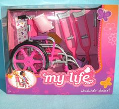 "My Life As Wheelchair Playset for 18"" Dolls Like American Girl Generations (NIB) #MyLifeAs"