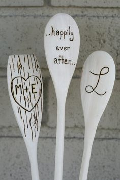 Personalized Wooden Spoons Set of Three by BlessingFalls on Etsy