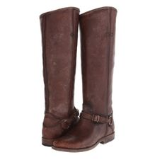 Frye Phillip Ring Tall boots Excellent, barely worn condition Phillip Ring Tall boots. They are whiskey polished, stonewashed which means they are meant to look rugged, distressed and worn-in. One of the pull on straps inside the boot was torn & tied (shown in pic) but doesn't show when wearing the boots. Number markings on bottom were to prevent retail returns. No box or trades. Frye Shoes Heeled Boots
