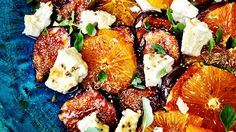 Fig, orange and goat's cheese | Salad recipes | SBS Food
