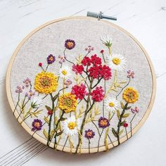 Beautiful Simple Embroidery Blouse Designs via Embroidery Near Me Phoenix Az save Embroidery Designs Tops much Embroidery Patterns Star Wars most Embroidery Reno Embroidery Flowers Pattern, Creative Embroidery, Hand Embroidery Stitches, Modern Embroidery, Embroidery Hoop Art, Hand Embroidery Designs, Embroidery Techniques, Ribbon Embroidery, Floral Embroidery