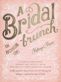 Elegant 'Bridal Brunch' Invitation.