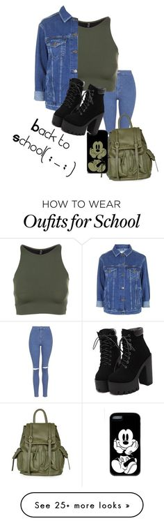 Back to School by littlesorap on Polyvore featuring Topshop and Onzie