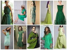 Красивые платья зеленого цвета на 2016 год: с чем их носить?