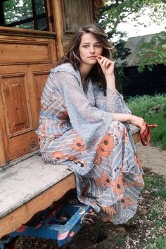 Charlotte Rampling in that Ossie Clark dress that I frequently obsess about