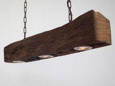 Hängelampe, Deckenlampe, Lampe, rustikal, Holz, Holzlampe, LED, Balkenlampe