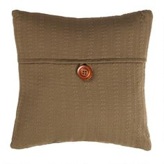 7.99-18 SQ. One of my favorite discoveries at ChristmasTreeShops.com: Solid Cable Knit Button Throw Pillow
