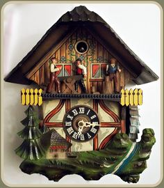 Unusual Cuckoo Clocks small whimiscal vintage cuckoo clocktrussellanddodd on etsy