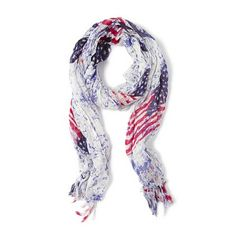 Stars and Stripes Scarf | Claire's
