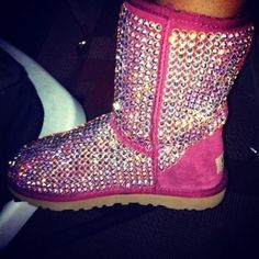 bejeweled pink uggs!  Must have yes please