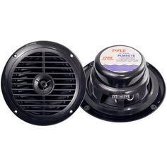 Dual 6.5'' Waterproof Marine Speakers Full Range Stereo Sound 120 Watt Black