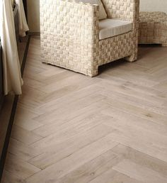 Aged Antique Oak - Rochester Herringbone - double smoked floor with white tinted oil finish. microbevelled