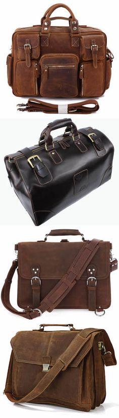 Handmade Vintage Leather Briefcase / Messenger Bag / Satchel / Backpack / Laptop Bag / Travel Bag, Men's Bag Women's Bag