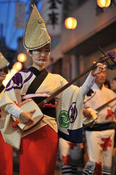 Shamisen player, Kyodo Edokkoren Awaodori