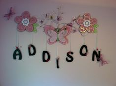 Little Girls Room Idea - Wall Decor + Name