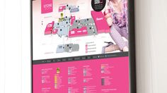 Graphic wayfinding directory for Stone Road Mall.