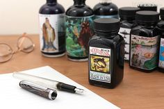 Noodler's inks are known for their affordability, wide range of colors, and good performance on more absorbent papers that are not normally fountain pen friendly. Noodlers Ink, Free Pen, Stationery Companies, Jet Pens, Pencil Writing, Fountain Pen Ink, Artist Trading Cards, Planner Organization, Book Making