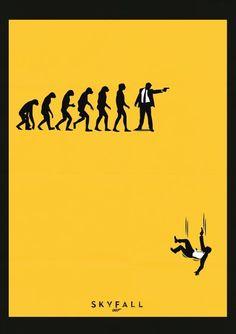 Mumbai-based multimedia designer Viraj Nemlekar created a series of minimalist poster designs in honor of the release of the James Bond film, Skyfall, Best Movie Posters, Minimal Movie Posters, Minimal Poster, Film Posters, Skyfall, Gandalf, Minimalist Poster Design, Alternative Movie Posters, Fan Art